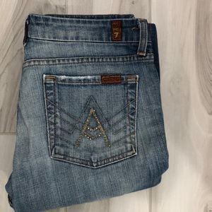 "7 for All Mankind- ""A"" Pocket flair jean"